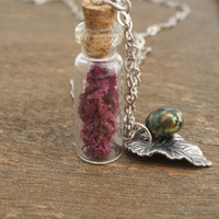 Free Shipping Jewelry - DRIED FLOWER NECKLACE by Cheydrea
