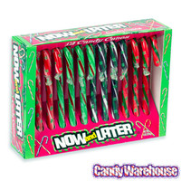 Now and Later Candy Canes: 12-Piece Box