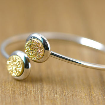 ON SALE Free Size Bangle,Adjustable bangle,Druzy Bangle,Stone Bangle,Druzy Bracelets,Quartz Bangle,Quartz Bracelets,Stacking bangle,Gemstone