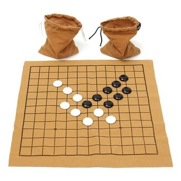Go Bang Chess Game Set Suede Leather Sheet Board  90PCS