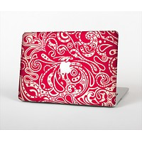 The Red Floral Paisley Pattern Skin Set for the Apple MacBook Air 11""
