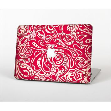 "The Red Floral Paisley Pattern Skin Set for the Apple MacBook Pro 15"" with Retina Display"
