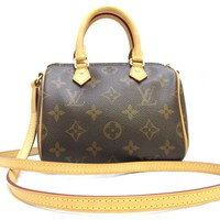 LOUIS VUITTON Monogram Nano Speedy Shoulder Bag M61252
