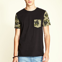 Camo Pocket Tee Black/Olive