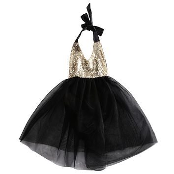 Summer Girls Sequins Halter Tulle Ball Gown Dress Baby Girl Sweet Party Princess Dresses Sundress 0-2Y