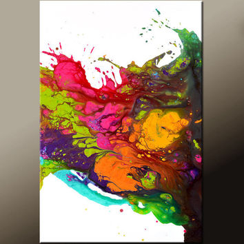 Abstract Canvas Art Painting Canvas 36x24 Original Modern Contemporary Paintings by Destiny Womack - dWo - EUPHORIA