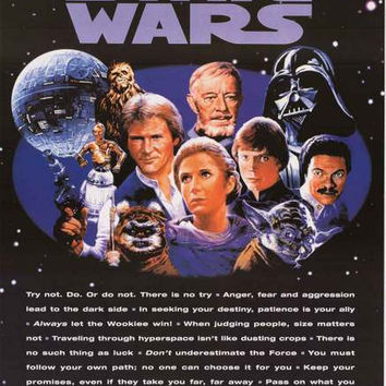 Star Wars Movie Quotes Poster 24x36