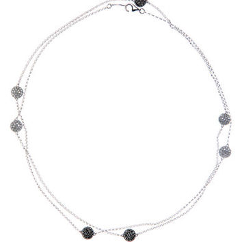 Judith Jack Sterling Silver and Crystal Station Necklace