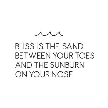 wall quotes wall decals - Beach Bliss Vinyl