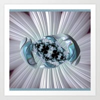 FRACTAL explosion, 3D,  aquamarine, multicolored  Art Print by ACKelly