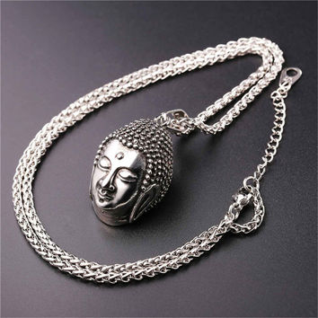 Buddha necklace stainless lucky jewelry
