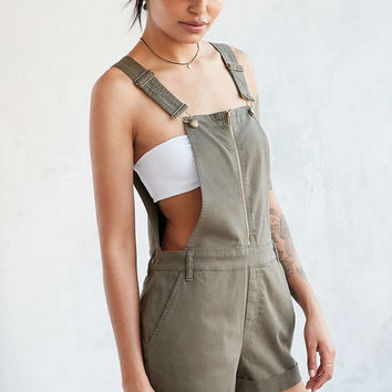 BDG Utility Zip-Front Shortall Overall - Urban Outfitters