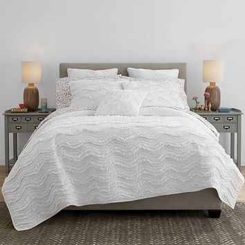 JCPenney Home™ Cotton Classic Ruffle Quilt