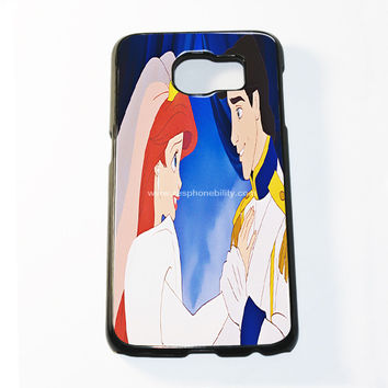 The Little Princess Disney Princess Ariel And Eric Married Samsung Galaxy S6 and S6 Edge Case
