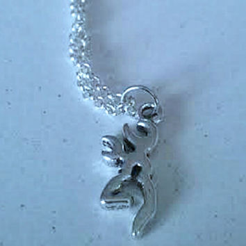 Deer Head Necklace,Browning Symbol Jewelry,Buckmark Jewelry,Deer Silhoette,Redneck,Hunting,Country Girl Boy,Ready 2 Ship,Direct Checkout
