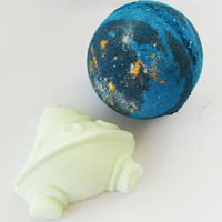 Space Voyage Bath Bomb, Galaxy Bath Bomb, Big Blue Bath Bomb, Cruelty Free, Vegan