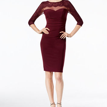 INC International Concepts Illusion Lace Sheath Dress, Only at Macy's - Dresses - Women - Macy's