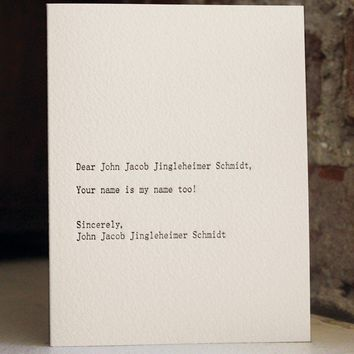 dear blank please blank--dear john jacob jingleheimer schmidt
