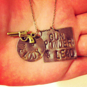 gun powder and lead hand stamped miranda lambert by 2tinyhearts