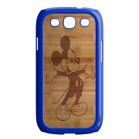 Mickey Mouse Wooden Samsung Galaxy S3 Case