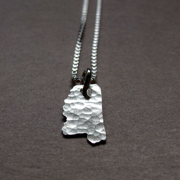 Tiny Mississippi State Necklace