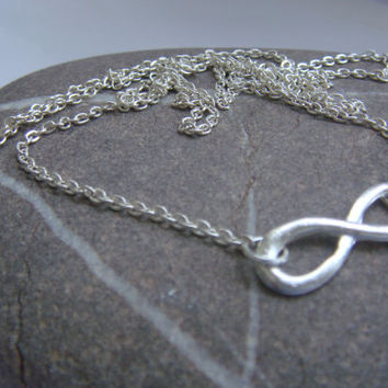 Infinity necklace, Infinity charm, Bridesmaid gift, UK seller, silver necklace UK
