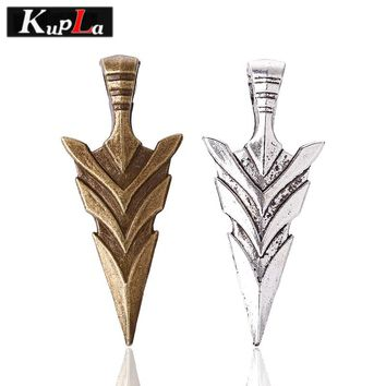 Kupla Vintage Arrow Charms DIY Handmade Fashion Arrow Charms for Jewelry Making Metal Arrowhead Charms 19*46mm 10pcs/lot C5547