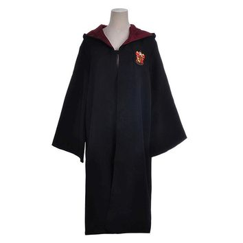 Harry Potter Magic Robe Gryffindor Slytherin Hufflepuff Ravenclaw School Clothes Halloween Christmas Cosplay Costume Cloak Black