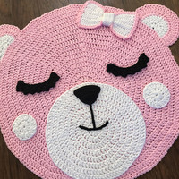 Crochet Rug PATTERN - Crochet Bear Rug - Nursery Rug Pattern - Little Bears Nursery Rugs - Crochet Mat - by Deborah O'Leary Patterns