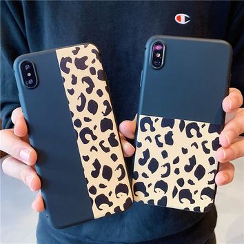 luxury Leopard Print Retro Phone Cases For iPhone 6 6s 7 8 plus Case For iphone XS XR Max Case Cover TPU Fashion Soft Cases Capa