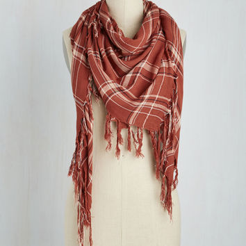 Imaginative Utility Scarf in Clay | Mod Retro Vintage Scarves | ModCloth.com