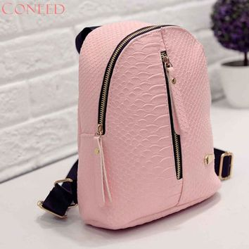 Fashion backpacks Charming Nice CONEED Women Leather Backpacks Schoolbags Travel Shoulder Bag Y35 May4