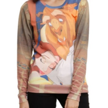 Disney Beauty And The Beast Lovely Embrace Girls Pullover Top