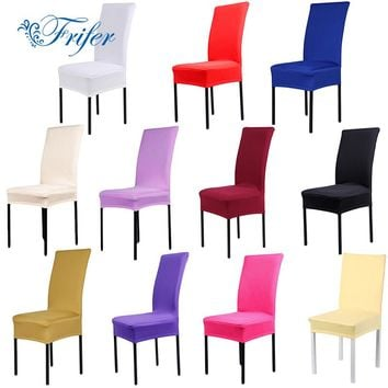 11color Dining Chair Covers Spandex Stretch Dining Room Kitchen Chair Protector For Chairs Slipcover Decor
