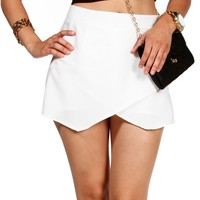 Sale-white Envelope Skort