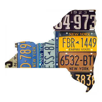 New York License Plate wall decal