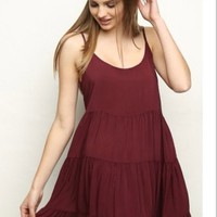 Brandy Melville Burgundy Jada Dress 33% off retail
