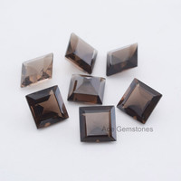Genuine Smoky Quartz Square 5mm AAA Grade Wholesale Loose Excellent Cut Gemstone - 20Pcs