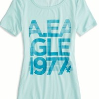 AEO Factory 's Heritage Graphic Crew T-shirt (Mint)