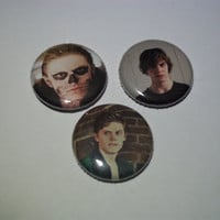 Evan Peters Buttons by kreepshowkouture on Etsy