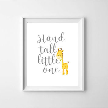 stand tall little one, baby room decor, wall art, digital print, baby room wall art, nursery art, nursery art, kids art, printable art, baby