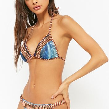 Embellished Abstract Bikini Set