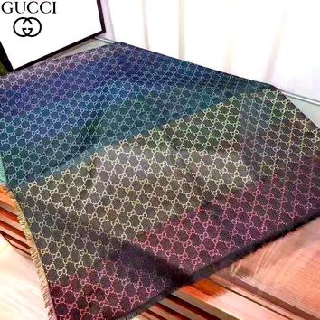 Free Shipping-GUCCI new color jacquard double G female long shawl scarf