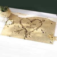 Walmart: Personalized Heart in Sand Doormat, Available in 2 Sizes