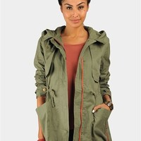 Oliver Combat Jacket - Olive at Necessary Clothing