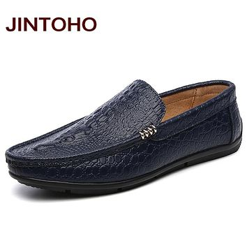 New Men Shoes Slip On Leather Shoes For Men Leather Slip On Men Men Boat Shoes
