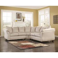 Darcy Sectional in Stone Fabric