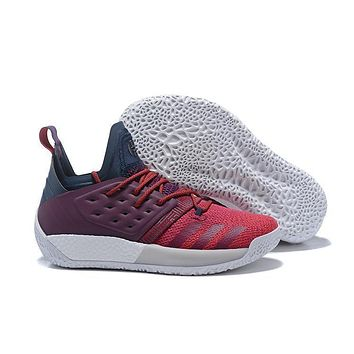 Adidas Harden Vol. 2 Wine Red Basketball Shoes Us7 11.5