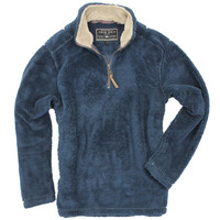 Pebble Pile Pullover 1/2 Zip in Vintage Denim by True Grit