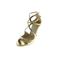 Jimmy Choo Womens Lang Leather Caged Evening Sandals